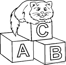Funny Cat Coloring Pages For Toddlers