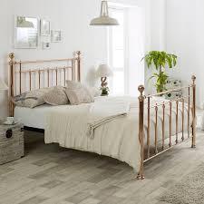 Libra King Metal Bed Frame Rose Gold