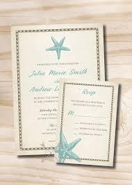 RUSTIC STARFISH Wedding Invitation And Response Card