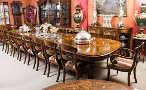 Huge Bespoke Handmade Marquetry Walnut Extending Dining Table 18 Chairs For Sale At 1stdibs