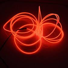 led a pile pour deco lerway 3m fil neon el wire lumière led cable les avec