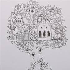 Enchanted Forest Book Coloring Books For Adults Kids Children Painting Antistress 24 Pages Secret Garden Quiet