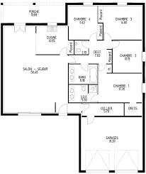 plan maison plain pied 6 chambres construire sa maison discount avec un constructeur à bas prix