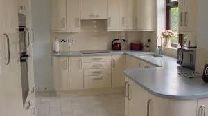 grey high gloss kitchen modern cabinet integrated with breakfast
