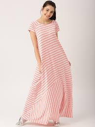 buy dressberry women white u0026 pink striped maxi dress dresses for