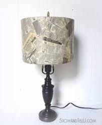Old Newspaper Lamp Shade Craft Stowandtellu