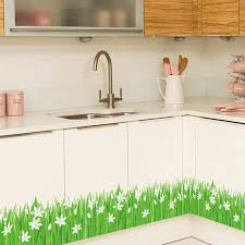 Decals For Bathrooms by 127 25cm Green Grass Flower Removable Wall Decals For Bathroom