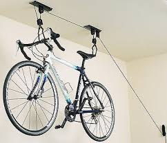 Racor Ceiling Mount Bike Lift by Two Bicycle Bike Stand Racor Garage Floor Storage Organizer