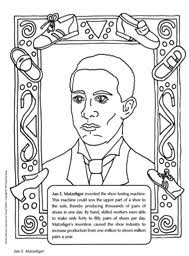 Jan E Matzeliger Coloring Sheet The Inventor Of Shoe Lasting Machine