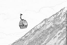 Cable Car Wi Fi Coloring Page