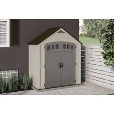 6x5 Shed Double Door by Suncast 7 X 4 Covington Storage Shed Walmart Com