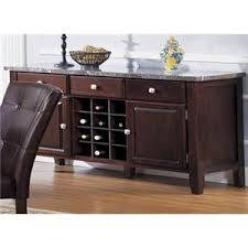 Acme Furniture Canville 07057 Espresso Buffett Server With Marble Top