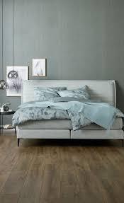 schlafzimmer idee mint ton in ton bettwäsche boxspringbett