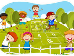 Kids Playing Outside Clipart 3