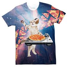 dj pizza cat t shirt shelfies
