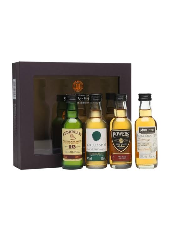 Single Pot Still Miniature Irish Whiskey Collection Pack - 4pk, 50ml