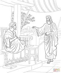 Jesus Calls Matthew Coloring Page Inside And The 12 Disciples
