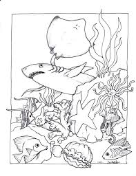 Ocean Animal Coloring Pages For Toddlers Sea Animals Pdf Creatures Printables