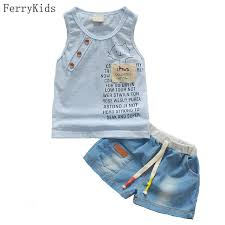 2018 New Summer Baby Boy Clothing Set Tank Top Shorts Kid Children