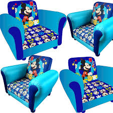 Mickey Mouse Flip Out Sofa by Kids Cartoon Tv Character Children Chair Armchair Playroom Bedroom