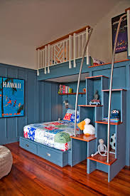 Shared Children Bedroom Ideas For Kids Room Design Storage Beds With Bunk Bed And Ladder
