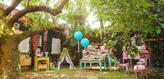 Party Setup From A Boho Woodland Camping Via Karas Ideas KarasPartyIdeas