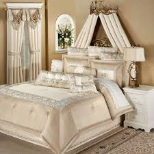 Queen Size Bed In A Bag Sets by Elegante Faux Silk Luxury Comforter Bedding