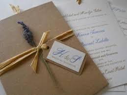 Rustic Lavender Wallet Invitation