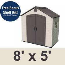 8x5 Plastic Storage Shed Sale Today with Fast Shipping 8 Shelves