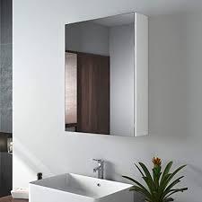 emke spiegelschränke 50x65cm bad spiegelschrank badschrank mit doppelseitiger spiegel weiß