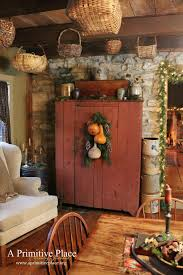 Unbelievable Just A Pic Love This Hutch The Color Look Rustic Image For Primitive Dining Rooms