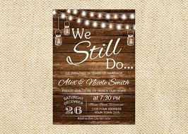 Vow Renewal Invitation Wedding Anniversary Invitations We