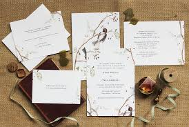 Printable Wedding Invitation Winter Or Christmas Botanicals And Birds By Charley Paper Company