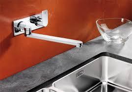 robinet cuisine mural melangeur evier blanco elos w mural chrome