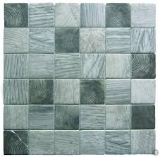 bati orient glass tile recycled wood look mosaic 2 x 2 grey mix