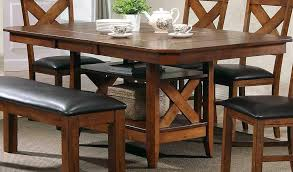 100 Contemporary Lodge Mcferran Style Walnut Furnishings Dining Room Set 5Pcs