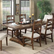 Chambers Creek Wood Rectangular Dining Table In Brown