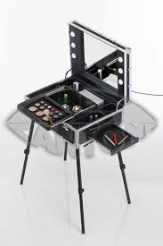 Attractive Portable Vanity Table with Alu White Make Up Chair