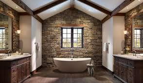 bathroom tile black pebble wall ornament white stain