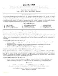 Resume Examples Construction Templates And Superintendent Samples Management