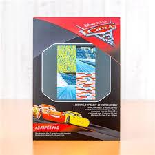 Disney Cars 3 Backing Paper Pad
