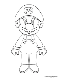Super Mario Printable Coloring Page