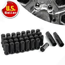 100 8 Lug Trucks 32pc Black 7 Spline Nuts 14x15 For Ford Chevy GMC LUG TRUCKS