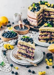 vegane zitronen mohn torte