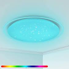 oowolf led deckenleuchte rgb farbwechsel 3000 6500k badezimmer küche led deckenleuchte dimmbar runde mit fernbedienung 22w 1900lm für wohnzimmer