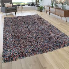 paco home hochflor teppich wohnzimmer shaggy weiche petrol blau senf gelb grösse 60x100 cm