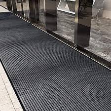 uyoyous teppichläufer rutschfest 300 x 90 cm streifenmuster schmutzfänger schmutzstopper teppich läufer schmutzfangmatte mit rutschfester rücken für