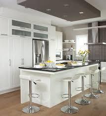 la cuisine d et armoires de cuisine de style moderne l îlot et la totalité de la