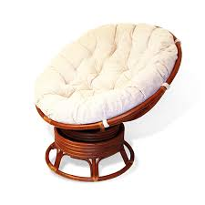 Amazon.com: Rattan Wicker Swivel Rocking Round Papasan Chair With ...