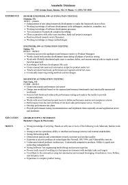 Automation Testing Resume Samples | Velvet Jobs